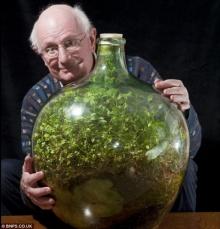สวนขวดระบบนิเวศปิด ไม่ต้องรดน้ำนานกว่า 46 ปี !