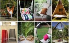 เก้าอี้สนาม DIY ร่วมกับของเหลือใช้ ตกแต่งกลางสวนหย่อม