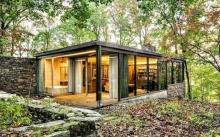 บ้านตากอากาศท่ามกลางป่า รสนิยมทันสมัย
