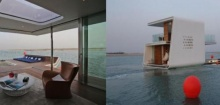 เริ่ดเว่อร์ !!! บ้านลอยน้ำ กลางทะเลสุดหรูพร้อมห้องนอนไว้ชมโลกใต้ทะเล (ชมคลิป)