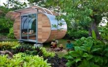 แบบบ้านไม้รูปทรงโมเดิร์น สำหรับเป็นที่พักผ่อนของครอบครัวในยามว่าง