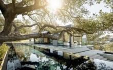 บ้านตากอากาศใต้ร่มเงาต้นไม้ใหญ่
