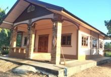รีวิวละเอียด!!สร้างบ้านชั้นเดียวงบ 5 แสน แปลนฟรีกรมโยธาฯ