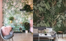 ไอเดียแต่งห้องด้วยลวดลายใบไม้สีเขียวให้บ้านดูสดชื่น