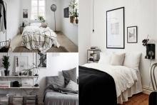 เรียบง่ายแต่ไม่น่าเบื่อ! กับไอเดียห้องนอนในโทนสีขาว-เทา-ดำ