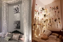 สร้างความโรแมนติก กับไอเดียตกแต่งไฟเก๋ ๆ ประดับห้องนอน