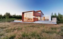 บ้านตากอากาศสไตล์โมเดิร์น ดีไซน์แบบกล่อง ออกแบบง่ายๆ