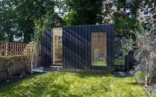บ้านพักแบบสตูดิโอ 1 ห้องโถงโล่ง ตกแต่งด้วยไม้