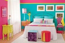 ไอเดียออกแบบห้องนอนสีสันสดใส สไตล์ Colorful
