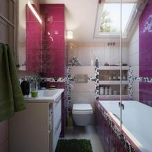 แบบห้องน้ำขนาดเล็กสีสันสดใส